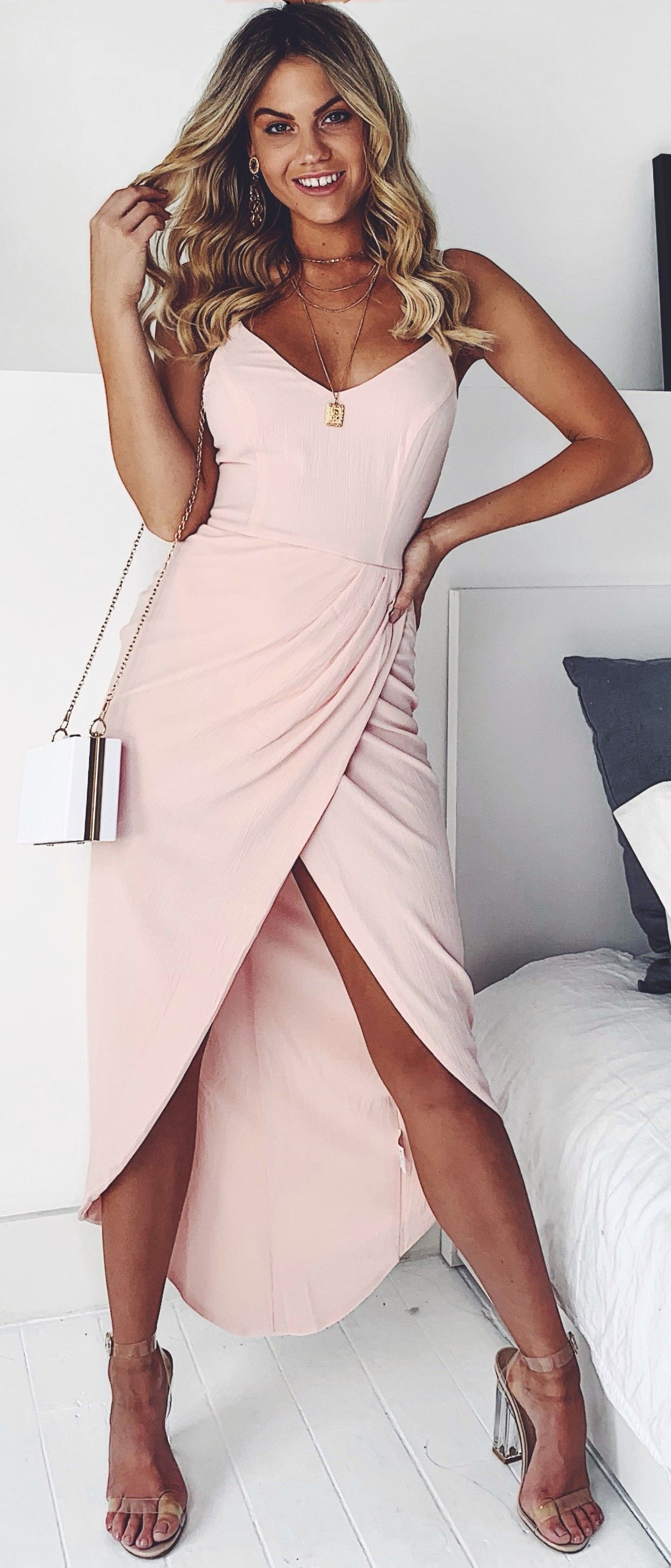 1a7473bf91a Dance the night away in a pink covered haze... Prom Dresses Under 100