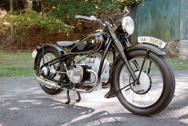 BMW's first 600cc motorcycle, this 1937 BMW R6 is one of just 1,850 built. (Story by Greg Williams, photos by Ken Richardson. Motorcycle Classics, March/April 2013)