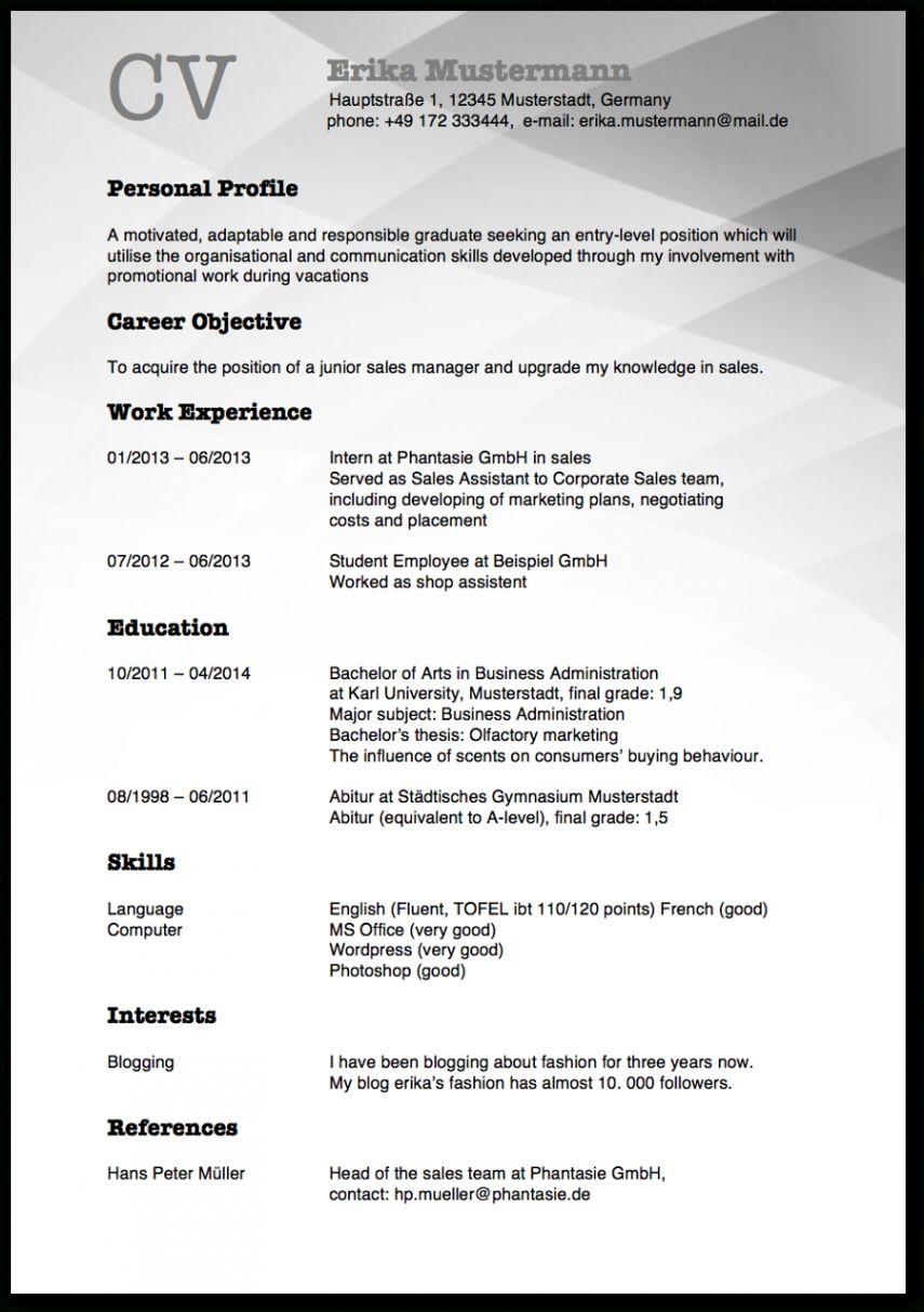 Blattern Unsere Druckbar Von Lebenslauf Vorlage Uk Cv English Organizational Communication Curriculum Vitae