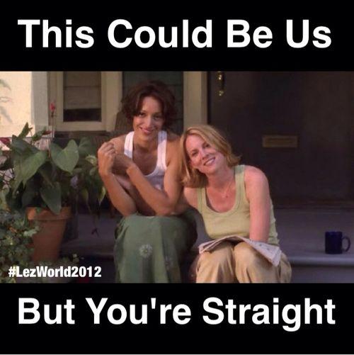 Lesbian i like straight female