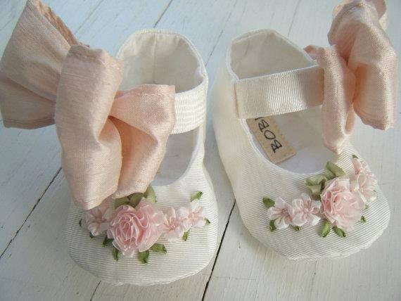 Laura Ashley Baby Girls/' Crocheted Ballet Booties