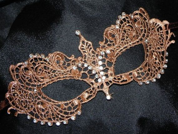 Bronze Soft Lace Masquerade Mask - Lightweight and Comfortable