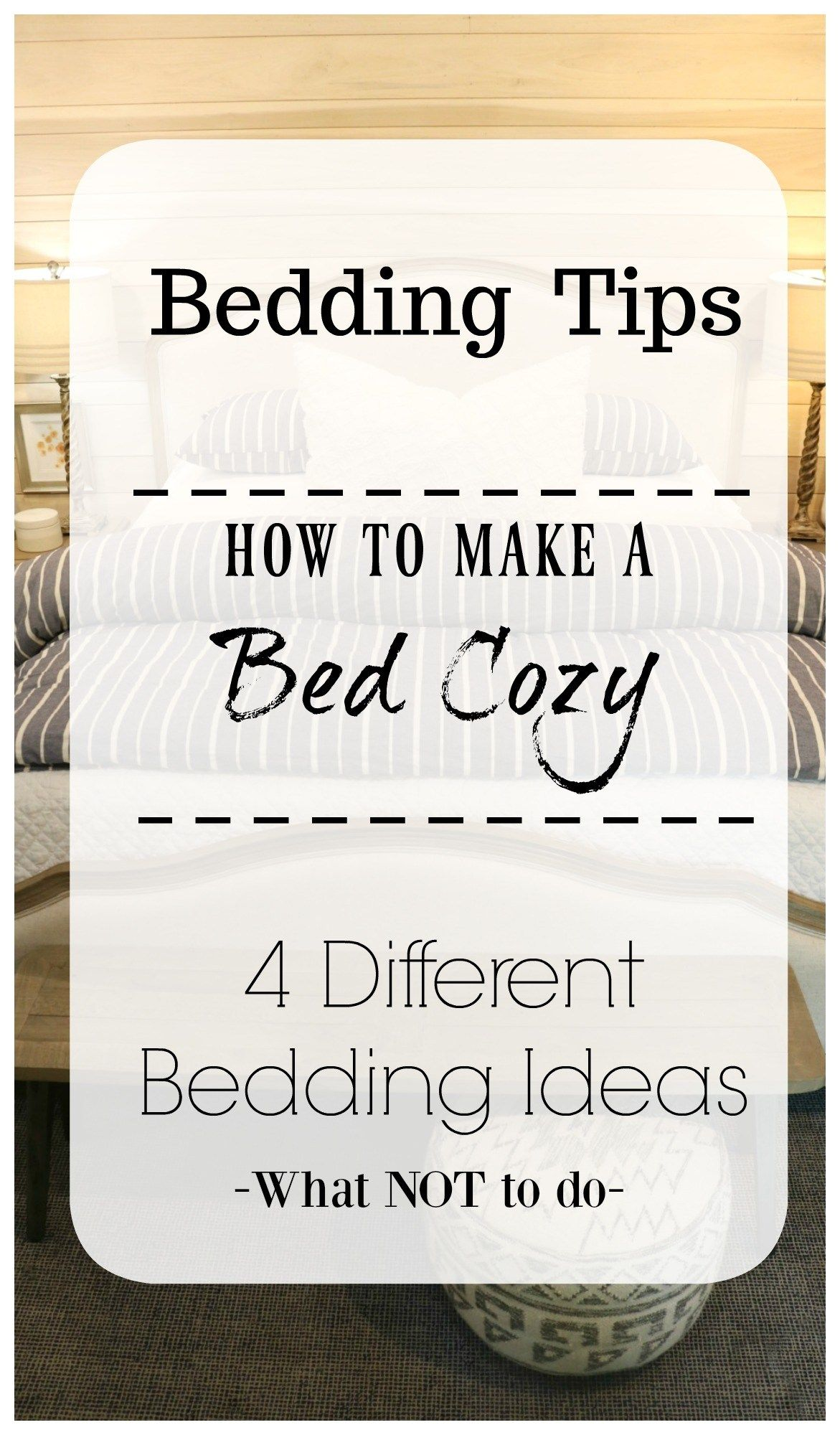 Master Bedroom Bedding- How to Make your Bedding Fluffy! Cozy bedding ideas for a beautiful master bedroom. #masterbedroom #bedroom