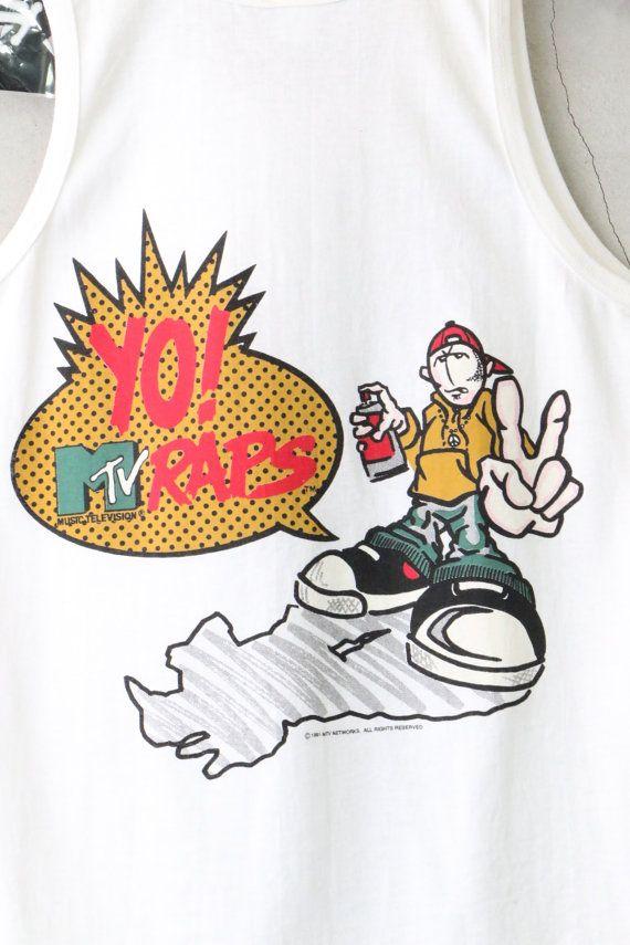 453430a2f vintage tank top Yo MTV raps shirt vintage Yo by imtryingtofocus ...