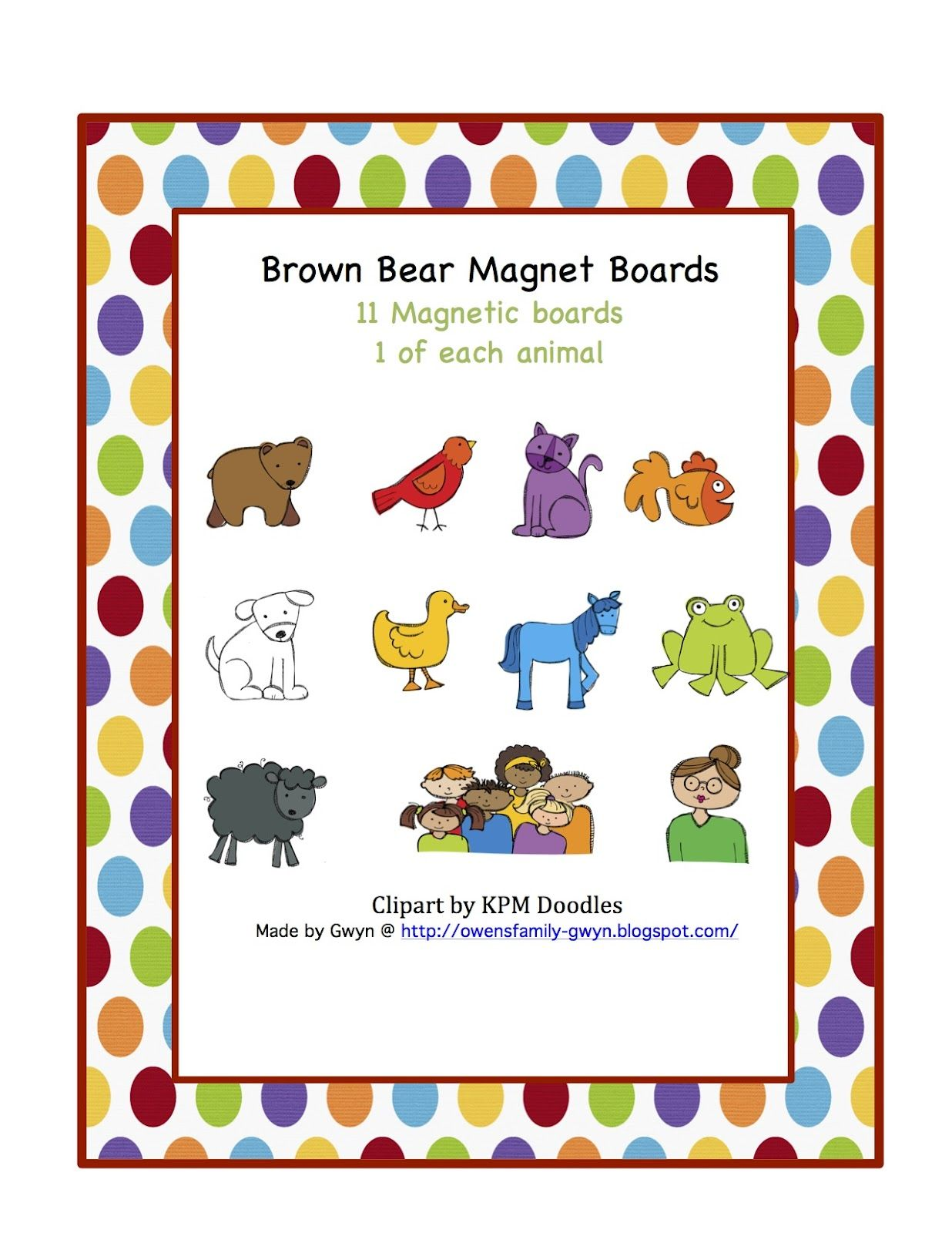 Preschool Printables Brown Bear