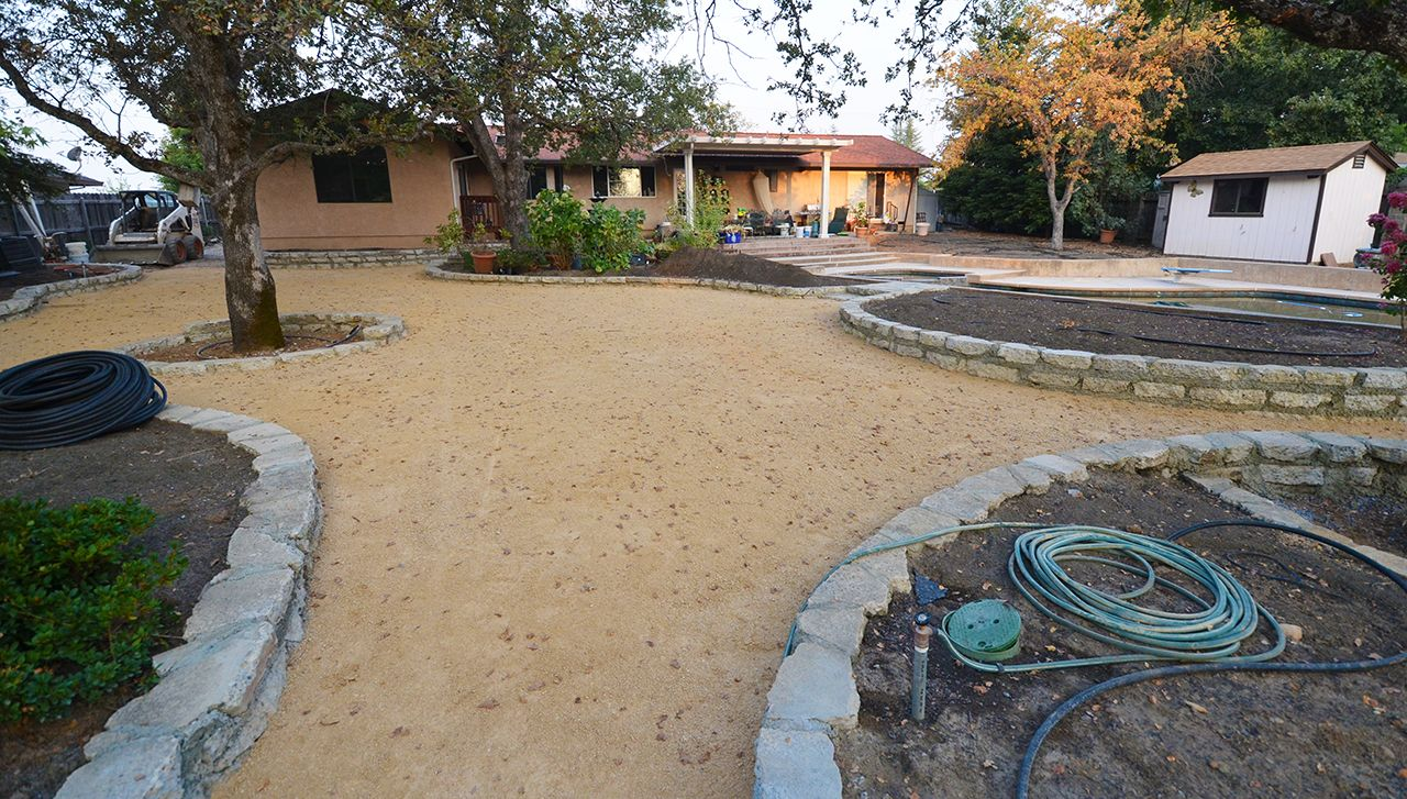 Large decomposed granite (DG) patio and walkway system ... on Decomposed Granite Backyard Ideas id=30701