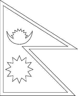 Nepal Flag Printable Coloring Page, free to download and
