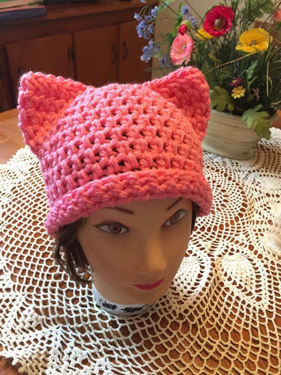 Pussy Power Cat Crochet Beanie Toque Hat