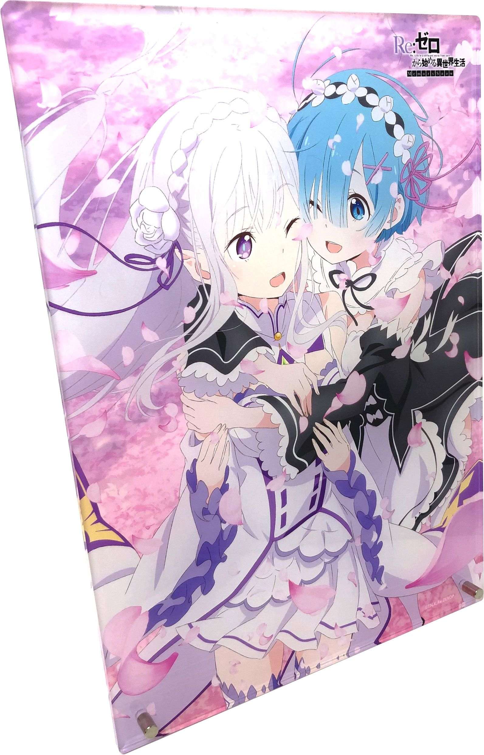 Re Zero Starting Life In Another World Memory Snow Acrylic Art Panel Acrylic Art Art Panel Art