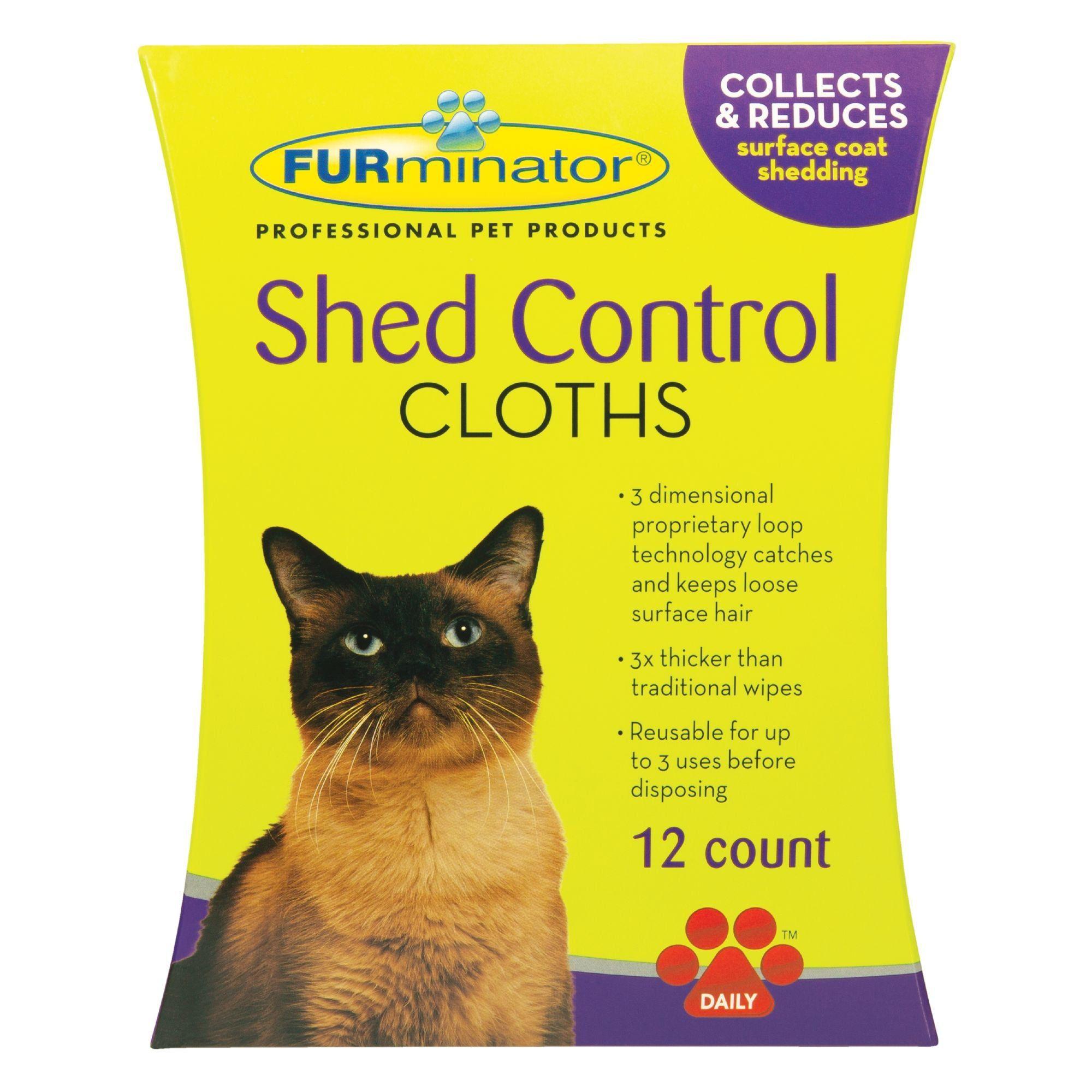 Furminator Cat Shed Control Cloths 12 Count Petco In 2020 Furminator Cat Cat Shedding Furminator