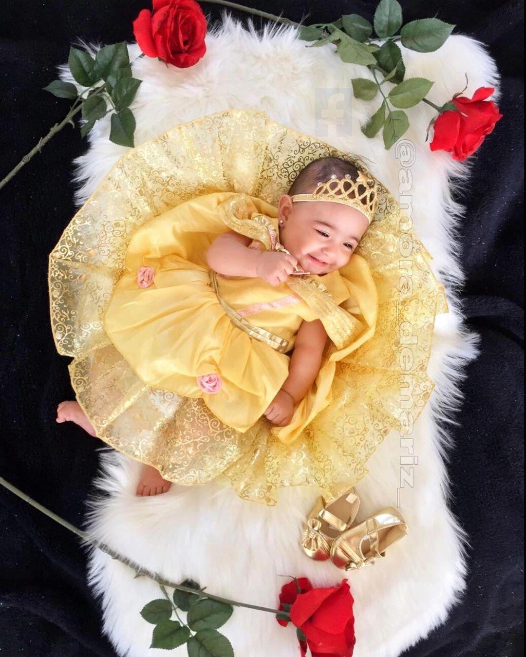 My baby Amora❤️👑🌹 #babyprincess #princess #DisneyBaby #love #amor #happybaby #gold #dress #roses #beatiful #prettybaby #beautifulbaby #mylittleme #disney #memories #disneyphotography #disneyhalloween #disneydream #disneyig #disneyart #disneystore #disneystyle #disneymagic #beautyandthebeast #belle #babyfever #babymodel #babyactress #babyamo