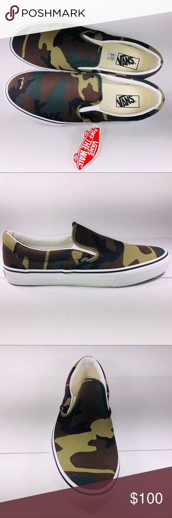 VANS SLIP ON Camouflage Loafers & Slip ons (VN0A38F7NRA)