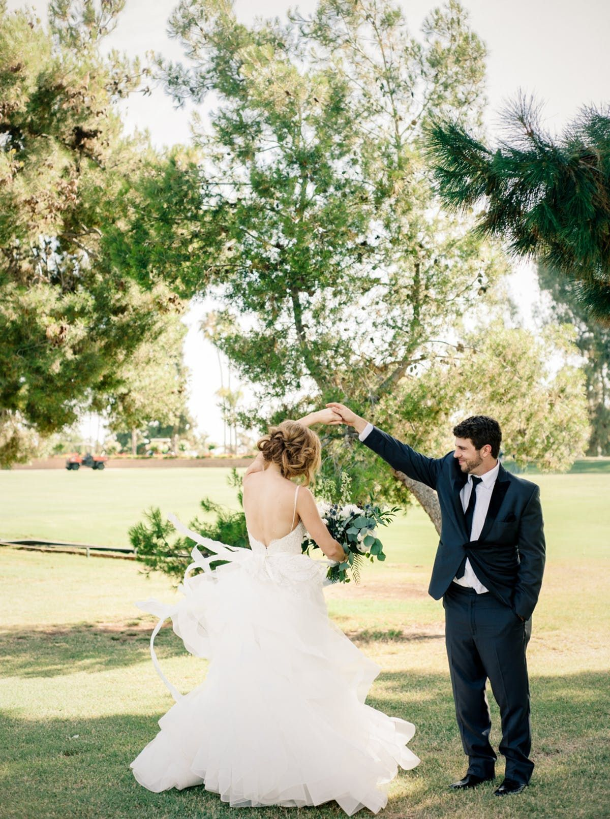 Traditional bluehued wedding in california
