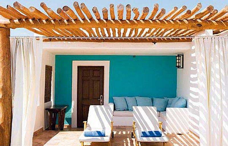 Azul Mar Para La Terraza Mesas De Patio Casas Mediterraneas Y Apartamentos Playa