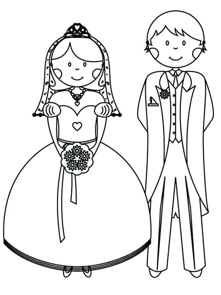 Printable Bride And Groom Coloring Pages Free Everyone Would Want