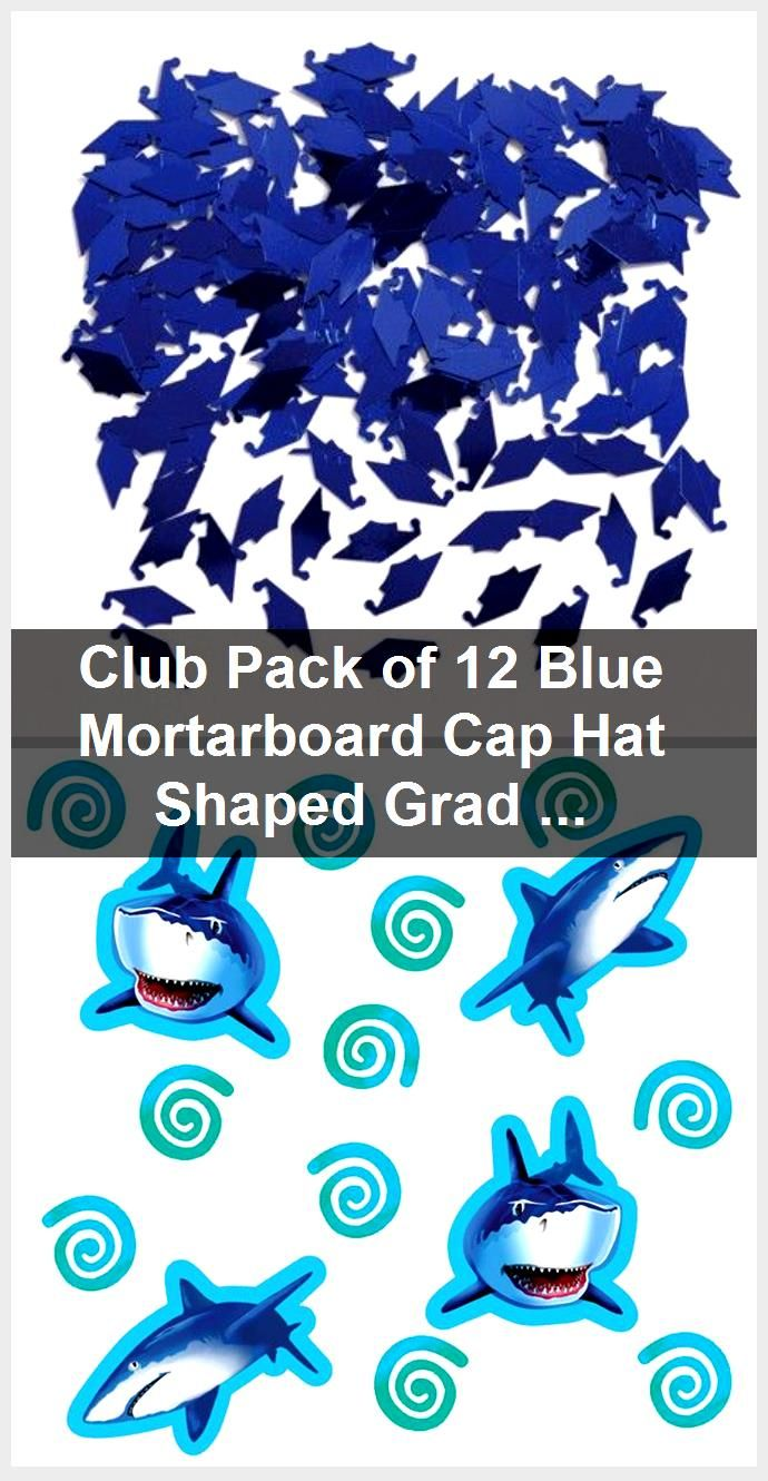 Club Pack of 12 Blue Mortarboard Cap Hat Shaped Graduation Day Celebration Confetti Bags 0.5 oz. - 31520258,  #Bags #Blue #Cap #celebration #Club #Confetti #day #Graduation #Hat #Mortarboard #Pack #Shaped