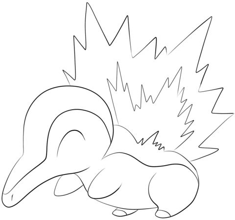 Cyndaquil Coloring Page From Generation II Pokemon Category