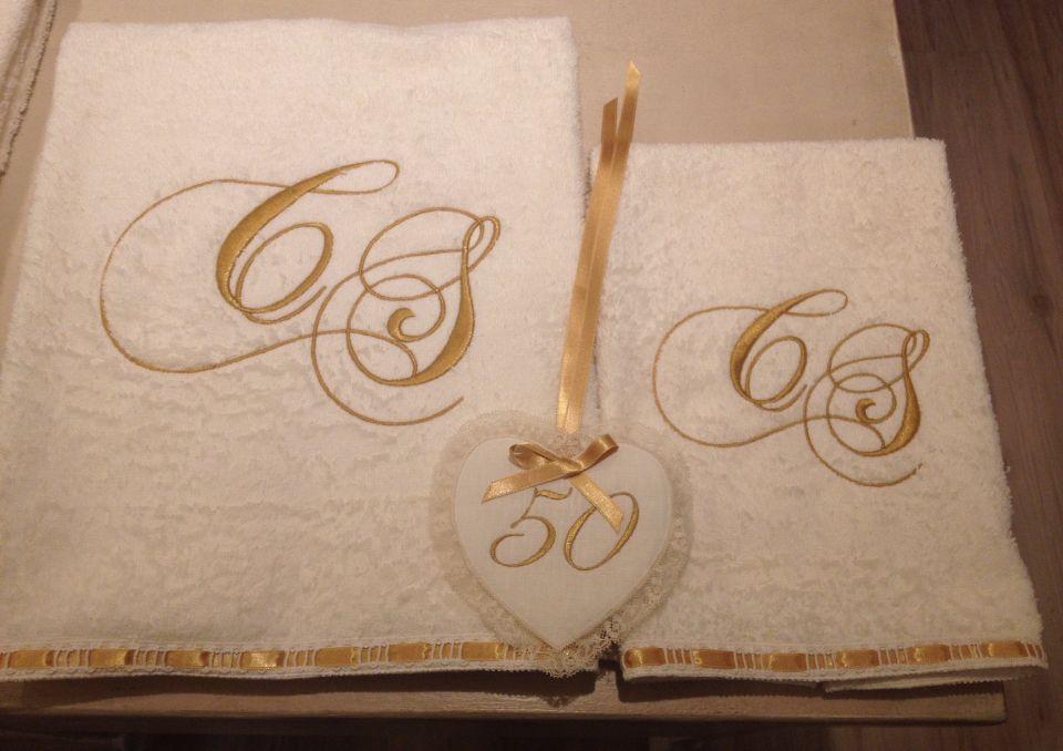 Idea Regalo Per 50 Anni Di Matrimonio Asciugamano Viso E Ospite
