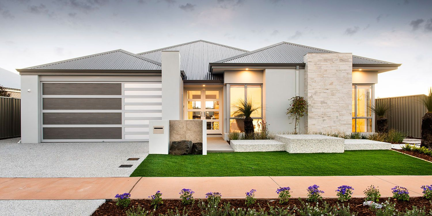Newtown single storey elevation western australia for Modern single story homes