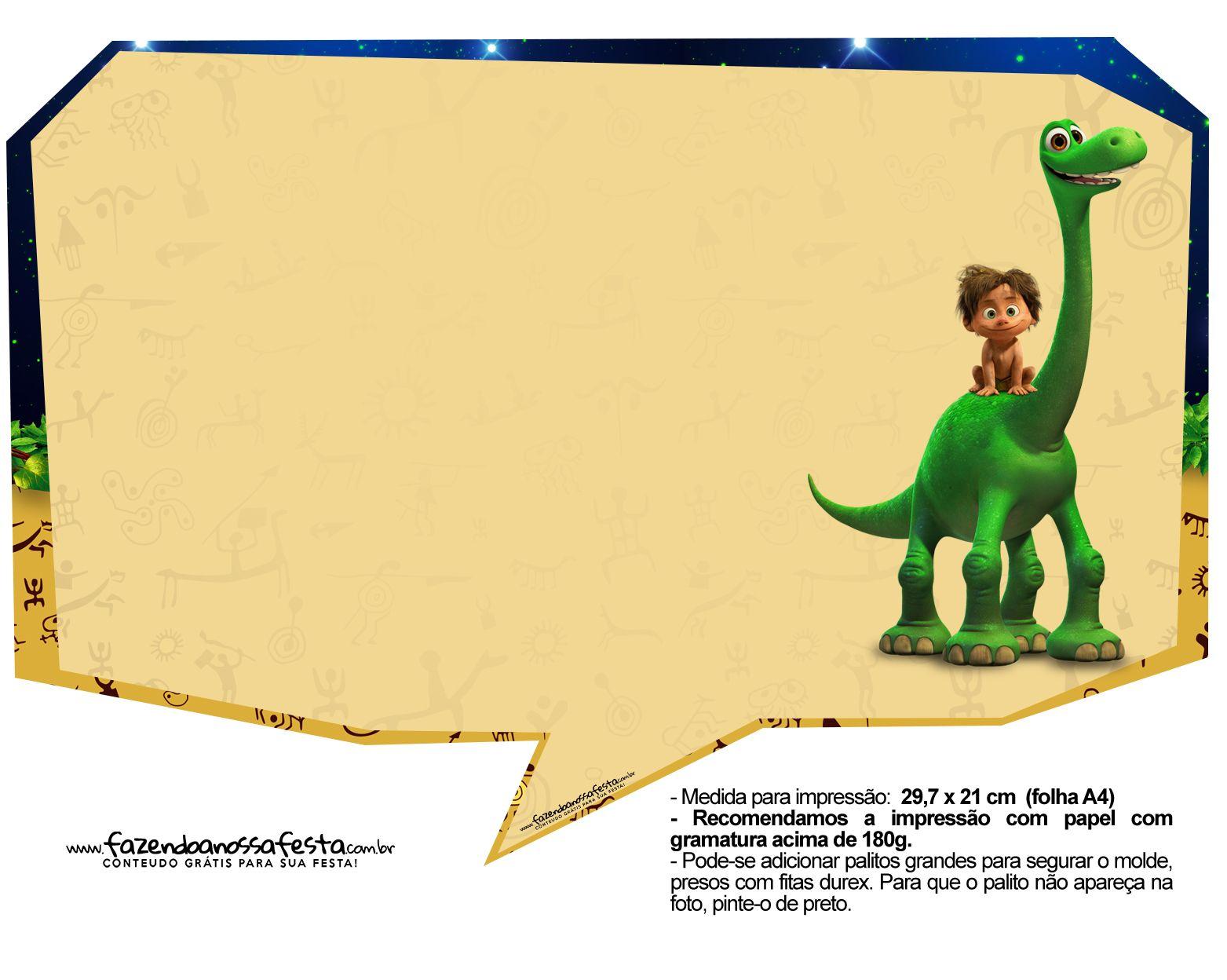 plaquinhas o bom dinossauro 4 dinosaur printables