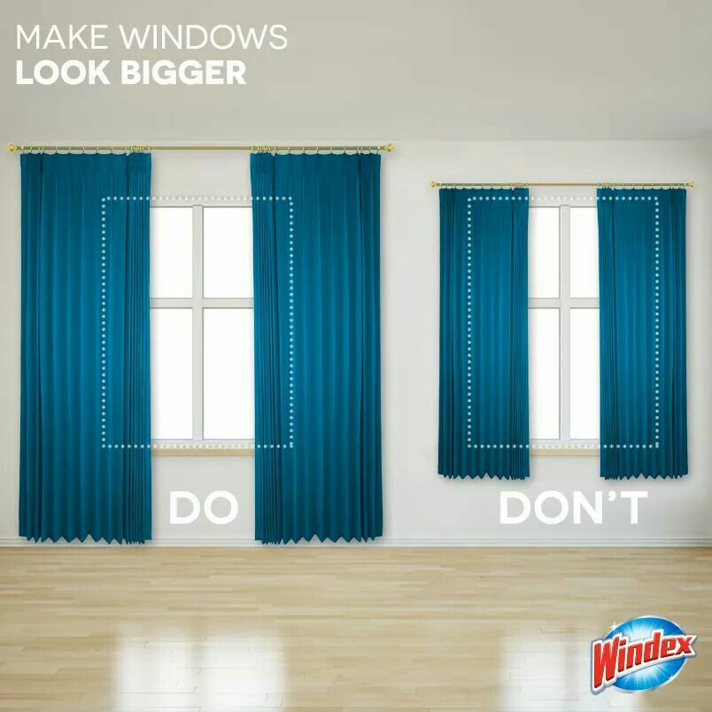 How To Hang Curtains To Make Room Look Bigger