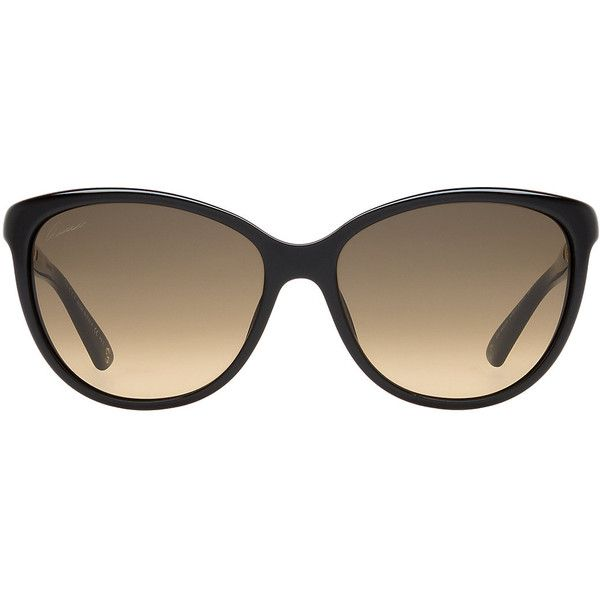 Gucci Gg 3692 57 Black Rectangle Sunglasses ($405) ❤ liked on Polyvore featuring accessories, eyewear, sunglasses, glasses, gucci eyewear, gucci sunglasses, thin sunglasses, rectangle glasses and rectangular glasses