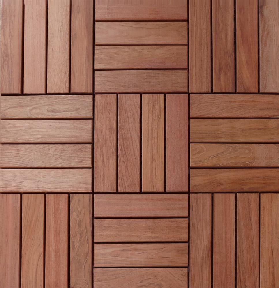 BuildDirect – Interlocking Deck Tiles – Copacabana Brazilian Cherry - This decking could transform an outdoor living space.