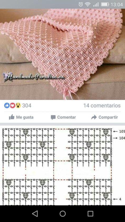 cuadrados de tela escocesa con diferentes patrones   Crochê bebê ...