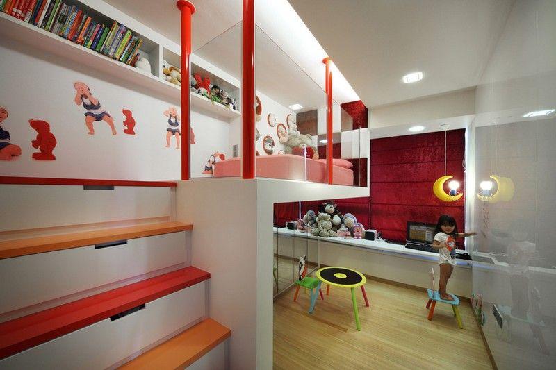Modernes Jugendzimmer In Rot Und Weiß Gestalten