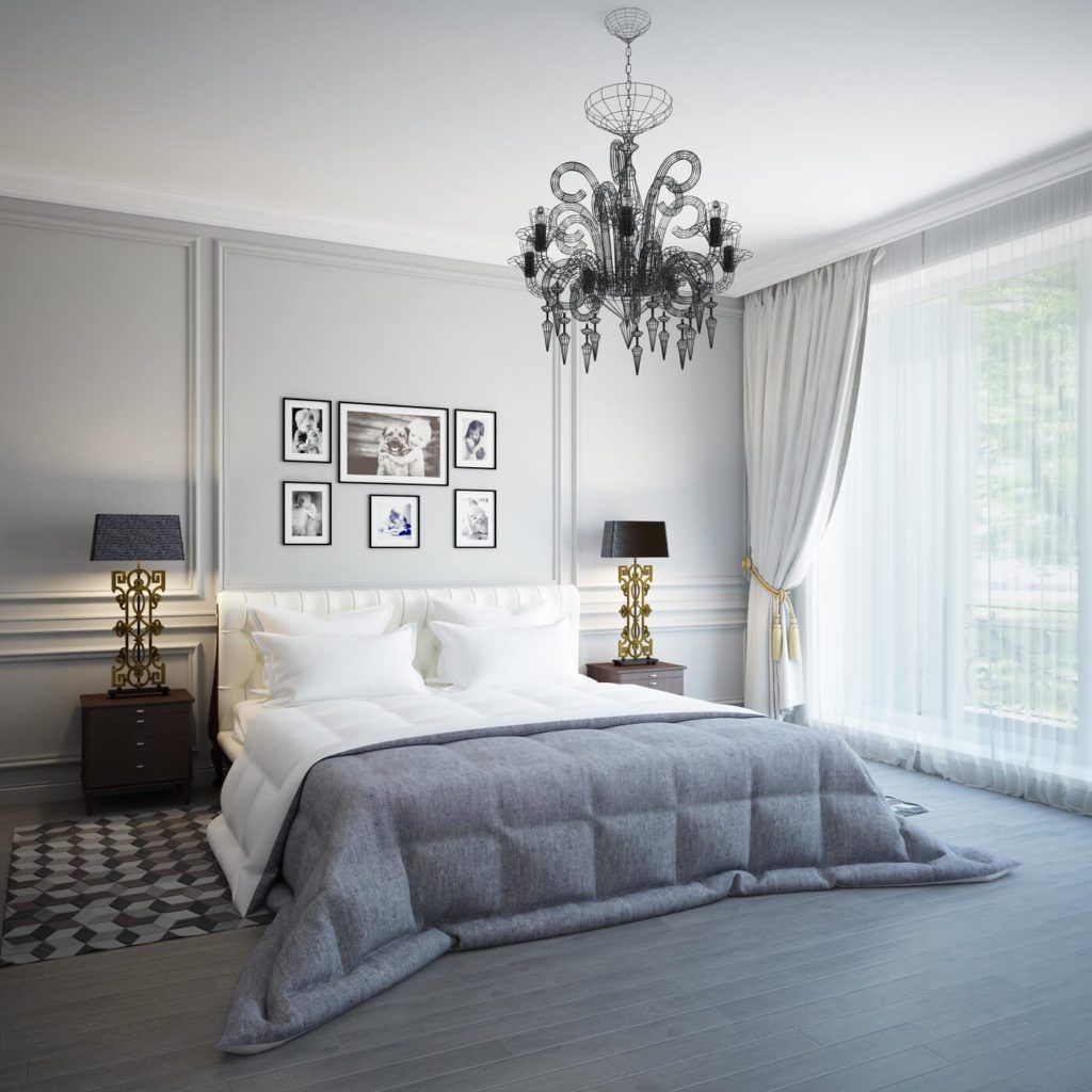 41 Delightful Master Bedroom Decor With Candle Bulb Chandelier