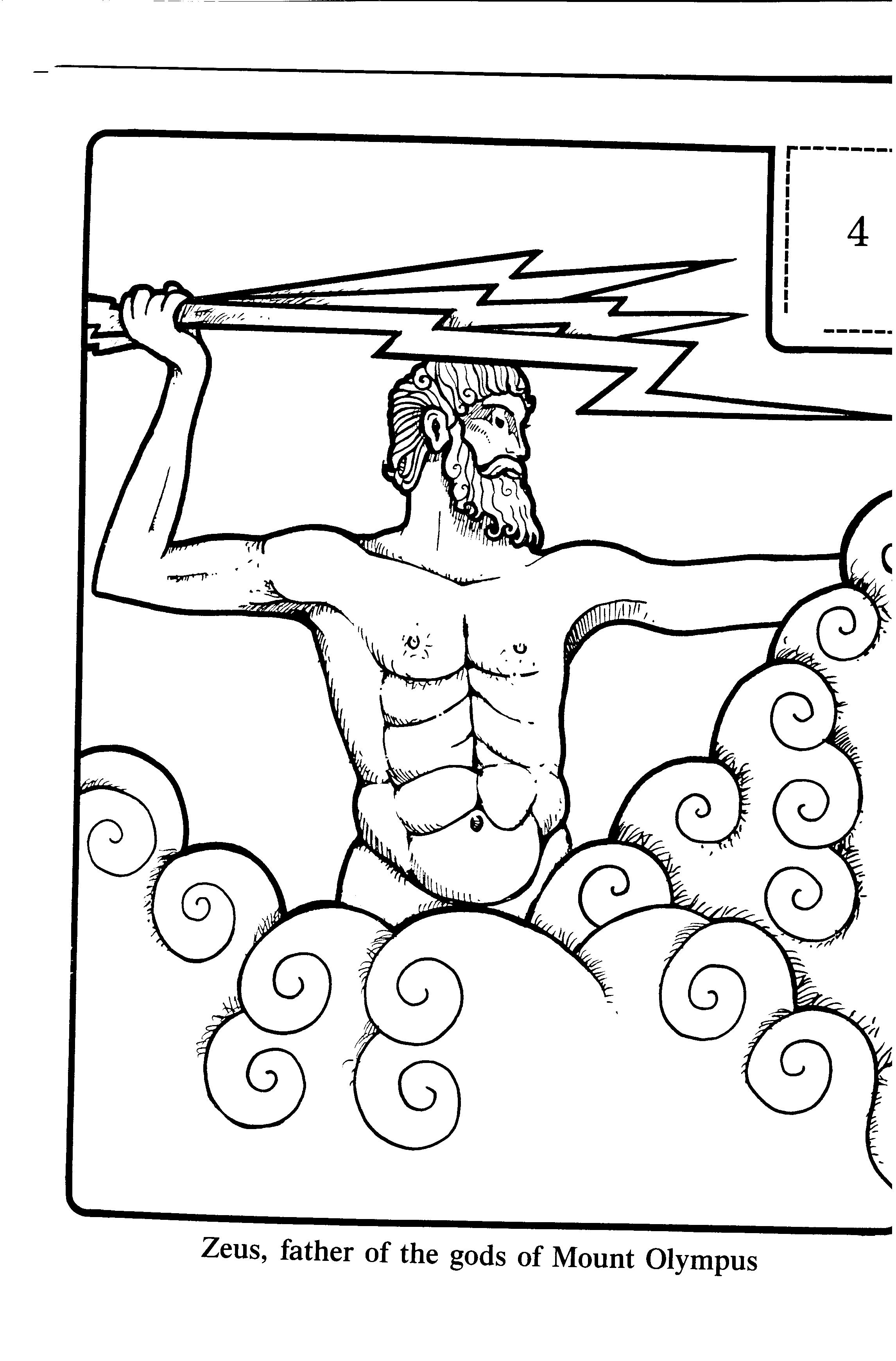 Zeus Father Of The Gods Of Mount Olympus