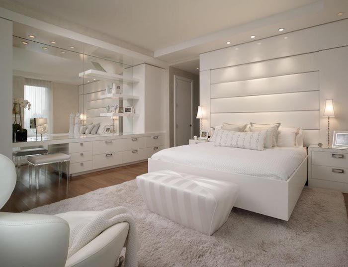 Zimmer Gestalten Ganz Einfach In Weiß Weiße Zimmereinrichtung Und Deko Möbel  In Glänzend Weiß Und Tolle
