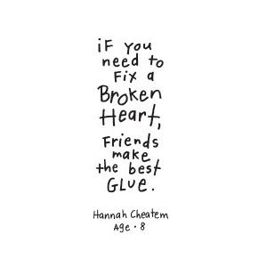 Fixing a broken heart quotes