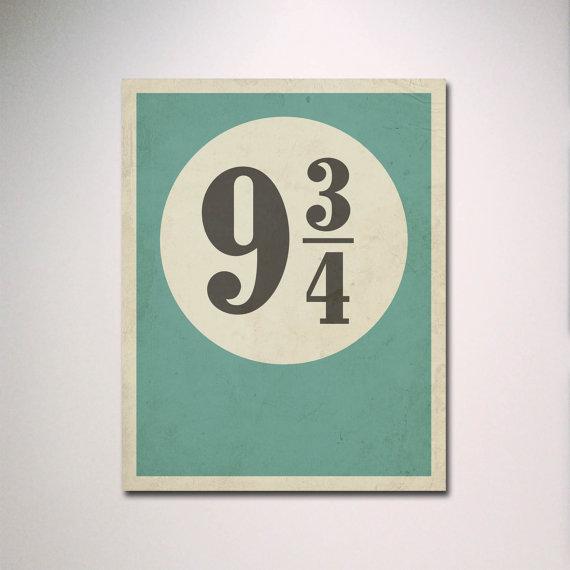 Typography Poster / Harry Potter Inspired von EntropyTradingCo, $10.00