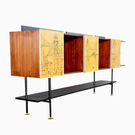 Italienisches Mid-Century Sideboard, 1950er Jetzt bestellen unter - wohnzimmer italienisches design