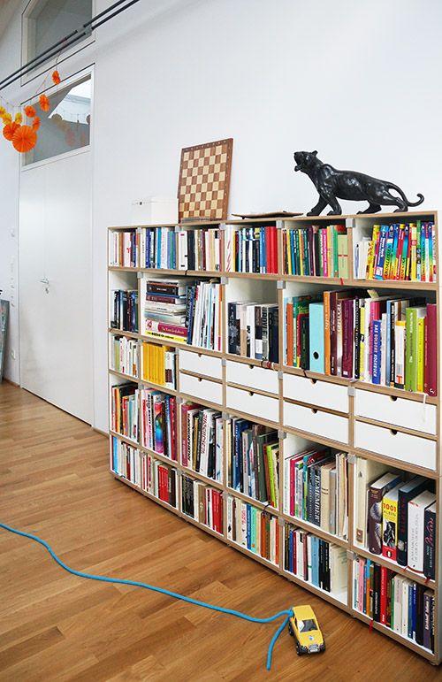 Regalsystem Bücher modulares regalsystem für bücher mit schubladen bücherregal