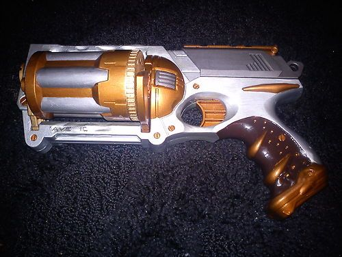 Modified nerf guns · cosplay custom toy larp gun for costume light up prop  steampunk fantasy rpg | eBay