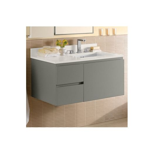 Ronbow Vanessa 36 Wall Mount Bathroom Vanity Base Cabinet In