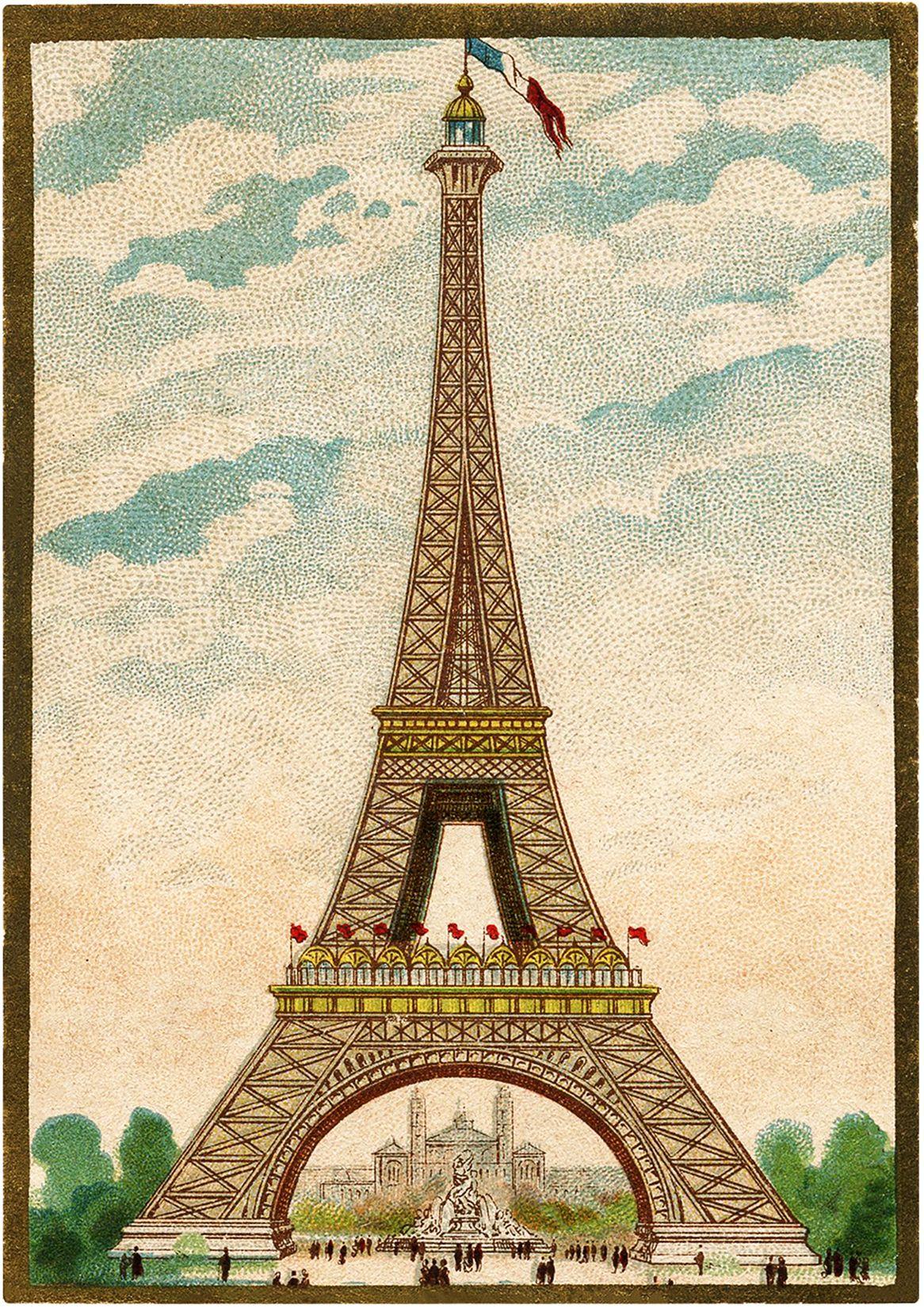 8 vintage eiffel tower clip art eiffel tower clip art