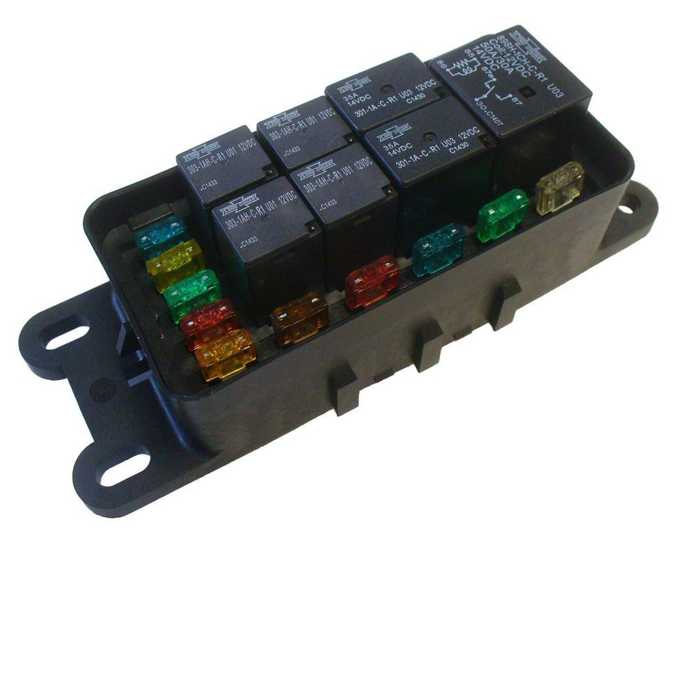 waterproof sealed fuse relay panel block atv utv car truck 12v off road tractor ebay [ 1000 x 1000 Pixel ]