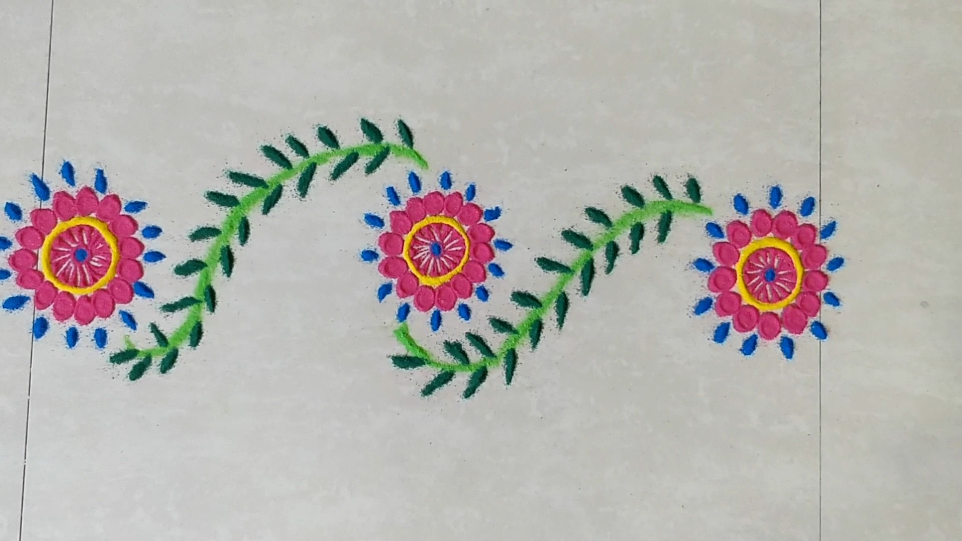 In this video, I have shown how to make simple and beautiful rangoli ...
