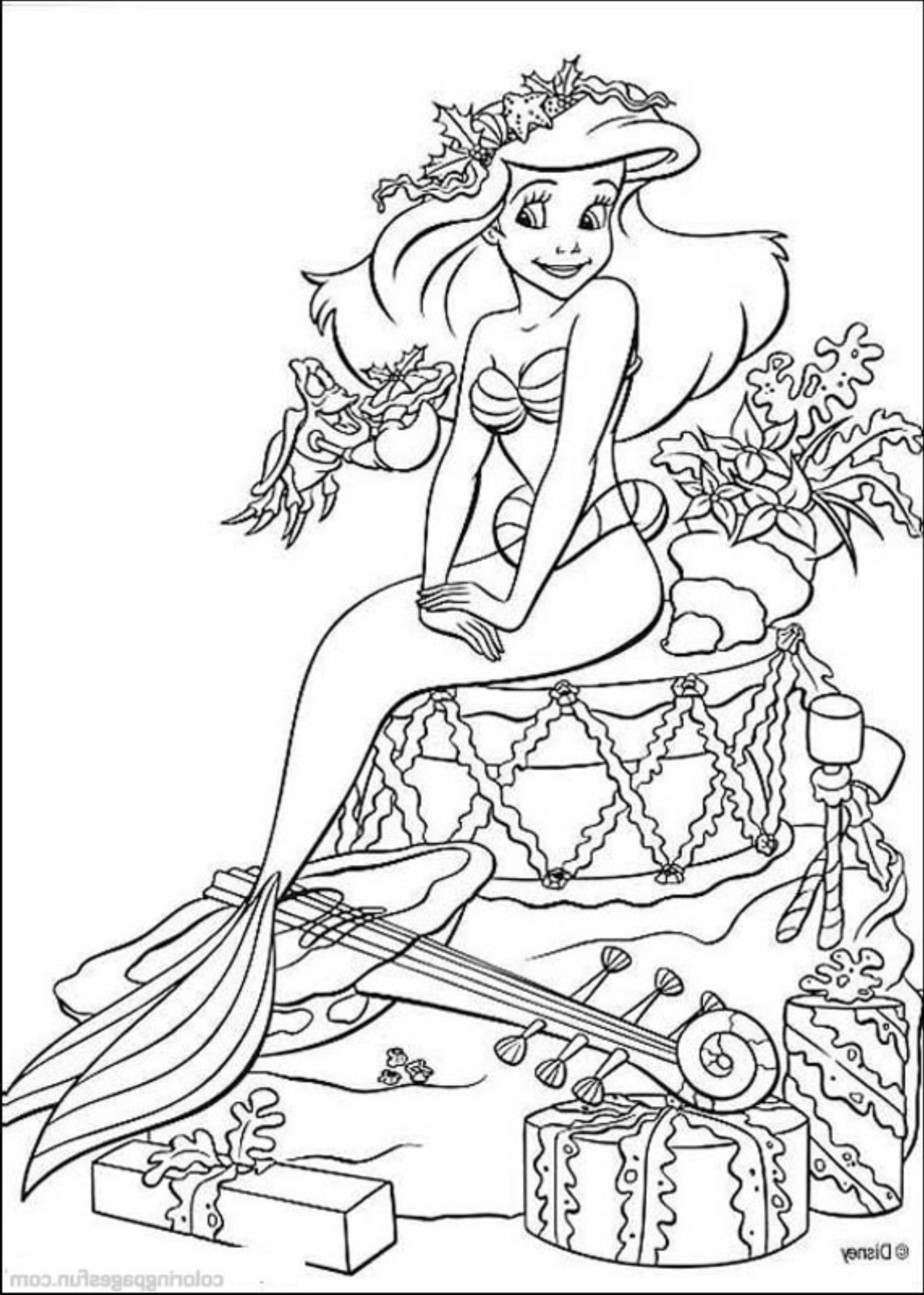 Mermaid Princess Printable Coloring Pages Barbie Disney ...