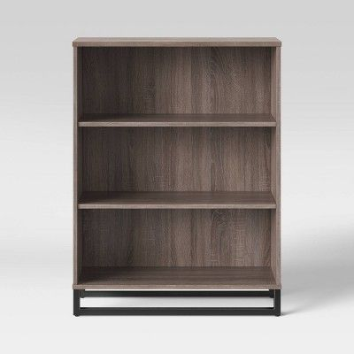 Mixed Material 3 Shelf Bookcase Gray Room Essentials In 2020 Bookcase 3 Shelf Bookcase Room Essentials