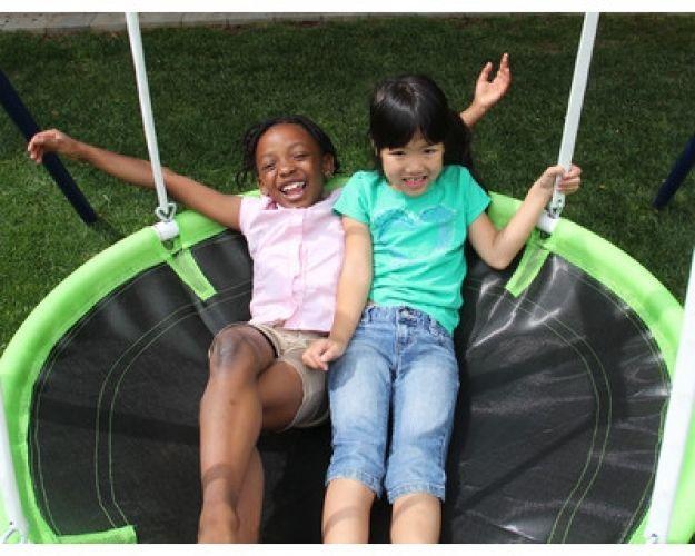 Out Door Swing Set Play Slide Flying Saucer Roman Glider Back Yard Metal  Kids #Sportspower
