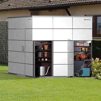 Gartenhaus Hpl Metall Kunststoff Garten Q Gmbh In 2020 Gartenhaus Haus Aufbewahrung Garten
