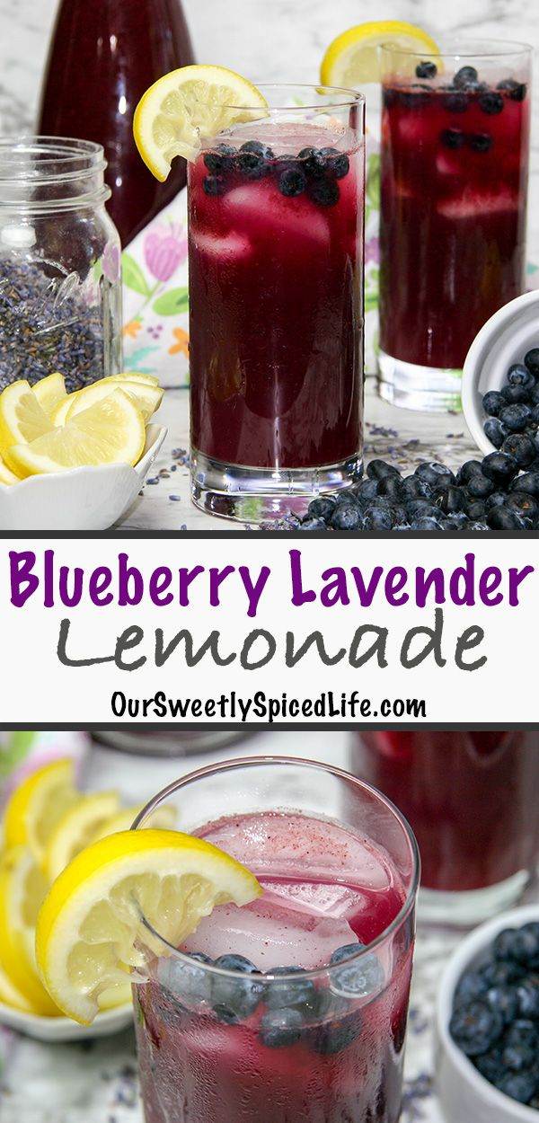 Blueberry Lavender Lemonade (with Cocktail Option!) - Our Sweetly Spiced Life