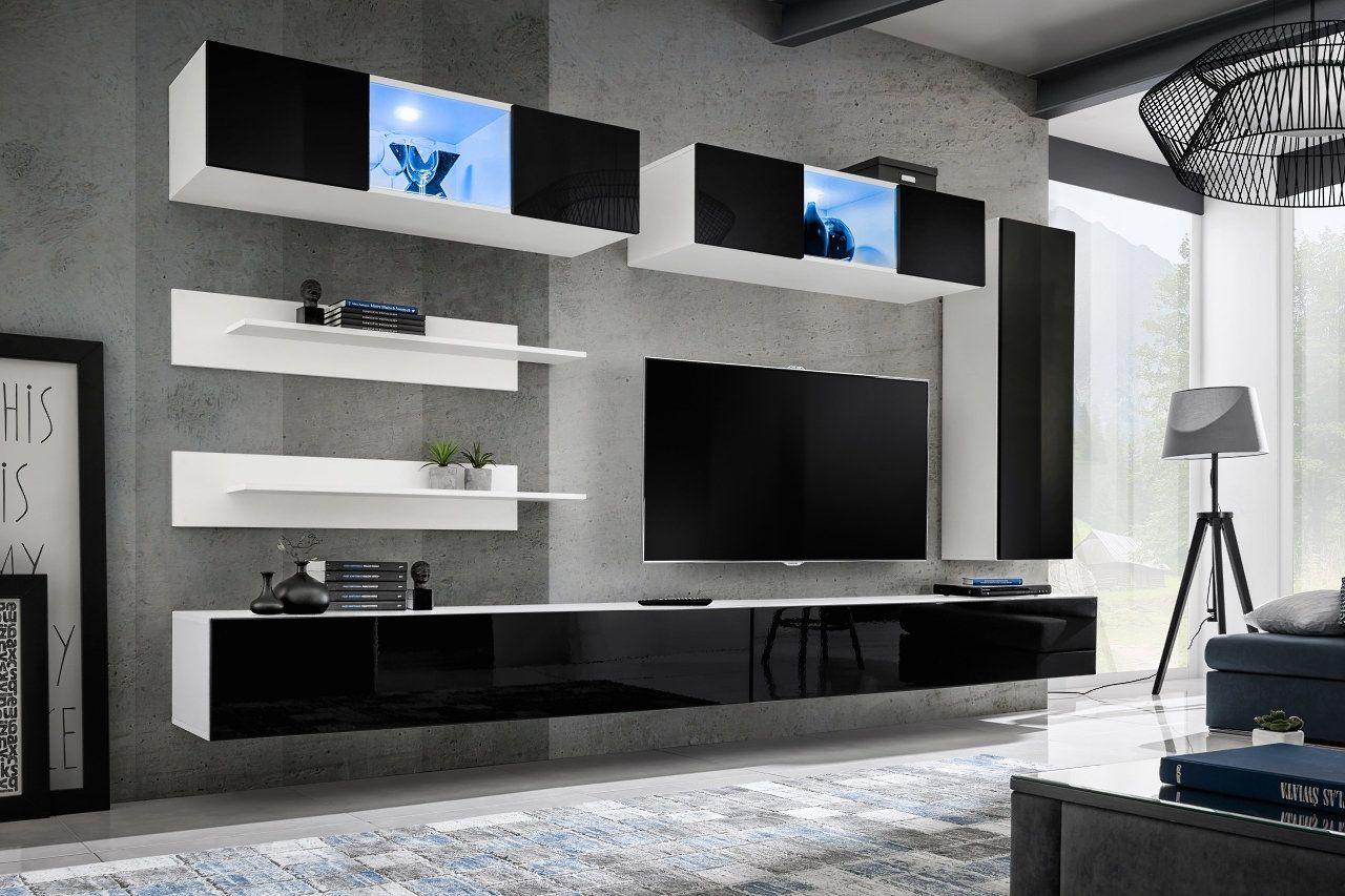 Meuble Tv Moderne Meuble Tv Mural Meuble Tv Led Meuble Tv Modulable Meubles Tv Design Meuble Tv Hifi Meu Tv Kastenwanden Moderne Tv Muur Wandkasten