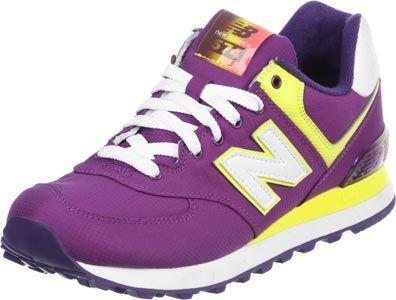 New Balance WL574 W calzado violeta amarillo