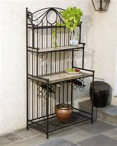 Wrought Iron Mosaic Tile Bakers Rack With Images Bakers Rack