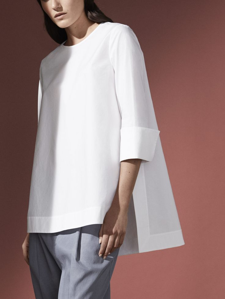 COS | Sunlit silhouettes - blouses for women, cream blouse tops ...